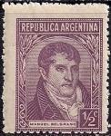 Аргентина 1935 год. Адвокат Мануэль Бельграно. 1 марка из серии