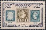 Монако 1960 год. 75 лет первой почтовой марке Монако. 1 марка