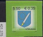 Эстония 2008 год. Стандарт. Герб уезда Вырумаа. 1 марка (401.375)