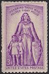 США 1957 год. Борьба с детским церебральным параличом. 1 марка