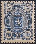 Русская Финляндия 1889-1892 год. Марка 25 пенни (синяя)