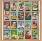 """Аджман 1972 год. Велогонка """"Тур де Франс"""". Гашеный малый лист"""