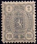 Русская Финляндия 1889-1892 год. Марка 2 пенни