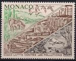 Монако 1972 год. Борьба с загрязнением окружающей среды. Виды транспорта, лошади, рыбы, птицы. 1 марка