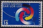Люксембург 1997 год. Европейские регионы Саар - Лор - Люкс. 1 марка