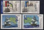 Франция 2002 год. Совместный выпуск с Австралией. 200 лет плавания Н. Баудина и М. Флиндерса. 4 марки