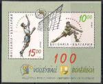 Болгария 1995 год. 100 лет волейбольной мировой лиге (053.4153). Блок