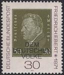 ФРГ 1971 год. 100 лет со дня рождения Первого президента Рейха Ф. Эберта. 1 марка