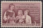 США 1957 год. 100 лет Ассоциации американских учителей. 1 марка