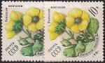 СССР 1981 год. Цветы. Горный парагеум (ном. 10к). Разновидность - разный цвет