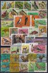 Набор иностранных марок. Флора и фауна (2). 40 гашеных марок