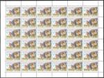 Россия 2001 г., 40 лет первого продолжительного полета человека в космос. Г.С. Титов, лист марок