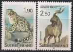 Финляндия 1989 год. 100 лет зоопарку в Хельсинки. 2 марки