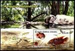 Шри-Ланка 2019 год. Национальный парк. Рыбы. Блок