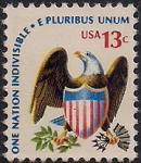 США 1975 год. Орел - символ Америки. 1 марка