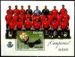 Испания 2008 год. Победители Чемпионата Европы по футболу в Австрии и Швейцарии. Испанская Национальная сборная. 1 блок. (н