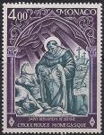 Монако 1975 год. Красный Крест. Святой Бернандин де Сиенна. 1 марка