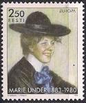 Эстония 1996 год. Европа. Известные женщины. Писательница Мария Ундер. 1 марка
