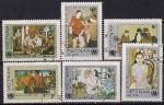 Вьетнам 1984 год. Живопись вьетнамских художников. 6 гашеных марок