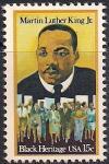 США 1979 год. 50 лет со дня рождения Мартина Лютера Кинга. 1 марка