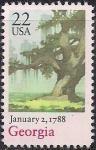 США 1988 год. 200 лет Конституции штата Джорджия. 1 марка