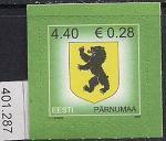 Эстония 2006 год. Стандарт. Герб уезда Пярнумаа. 1 марка (401.287)
