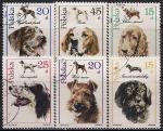 Польша 1989 год. Породы собак. 6 гашёных марок