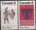 Канада 1973 год. Изделия ручной работы индейцев-алгонкинов. 2 марки