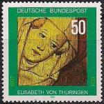 ФРГ 1981 год. 150 лет со дня смерти святой Елизаветы Тюрингской. 1 марка
