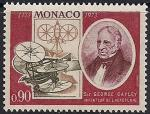 Монако 1973 год. 200 лет со дня рождения американского ученого Джорджа Кейли. 1 марка