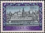 Польша 1972 год. Королевский замок в Варшаве. 1 марка