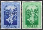 Мальта 1954 год. 100 лет Абсолютной Догмы. 2 марки