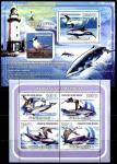 Гвинея-Бисау 2008 год. Крачка и двузубый кит. Малый лист + блок