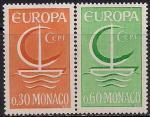 Монако 1966 год. Европа СЕПТ. Символическая лодка. 2 марки