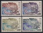 Монако 1975 год. Водный стадион. 4 марки с надпечаткой номинала