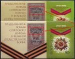 СССР 1975 год. 30-летие победы советского народа в Великой Отечественной войне (бл105). Блок. Разновидность - бледный и жирный черный текст
