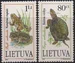 Литва 1993 год. Пресмыкающиеся из Красной Книги Литвы. 2 марки (н
