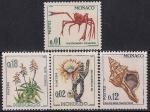 Монако 1964 год. Морские животные и редкие растения. 4 марки