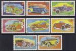 Нагаланд (Индия) 1974 год. Старинные автомобили. 8 гашеных марок