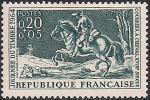 Франция 1964 год. День почтовой марки. Почтовый курьер на лошади. 1 марка