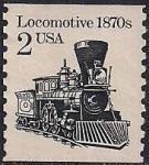 США 1982 год. Паровоз 1870 года. 1 марка