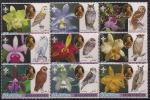 Афганистан 2003 год. Совы и орхидеи. Р. Баден-Пауэлл - основатель скаутского движения. 9 марок