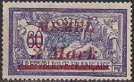 Германия Рейх (Мемель) 1922 год. НДП нового номинала (3 марки) на марке с номиналом 60 сантимов. 1 марка с наклейкой из серии