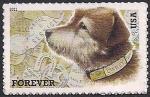 США 2011 год. Почтовая собака. 1 марка (н)