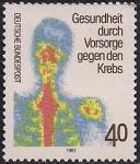 ФРГ 1981 год. Профилактика рака. 1 марка