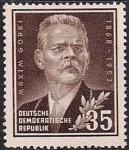 ГДР 1953 год. 85 лет со дня рождения М. Горького. 1 марка