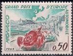 "Монако 1963 год. Автогонки ""Гран При"" в Монако. 1 марка"