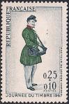 Франция 1966 год. День почтовой марки. Почтальон императорской почты. 1 марка