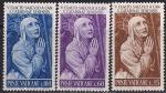 Ватикан 1962 год. 500 лет со дня рождения святой Екатерины Сиенской. 3 марки