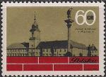 Польша 1971 год. Восстановленный Королевский замок в Варшаве. 1 марка